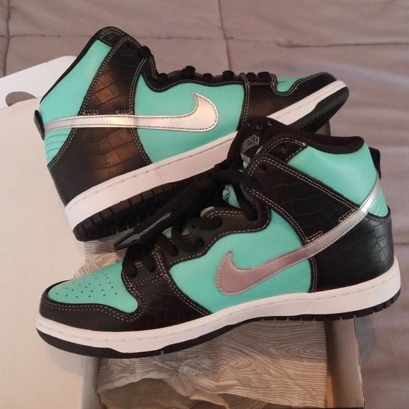 reputable site 3b676 09e9d Nike SB Dunk High Diamond Tiffany size 9.5 NEW